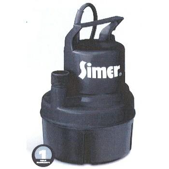 Pentair Water/Flotec/Simer 11652 Utility Pump, Simer 1/6 HP