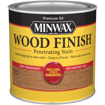 Wood Finish ~ Red Chestnut,   1/2 Pint