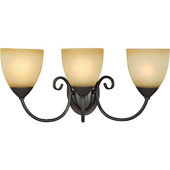 Wall Fixture, 3-Light Berkshire Series  ~ Classic Bronze
