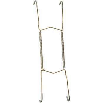 Bright Brass Plate Hanger, Visual Pack 2525 8 inches
