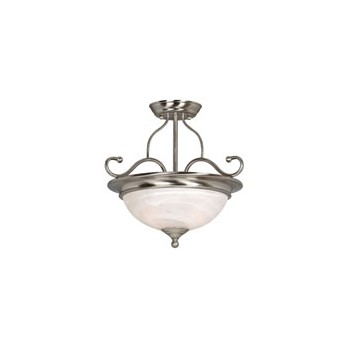 Ceiling Light Fixture, Saturn Satin Nickel