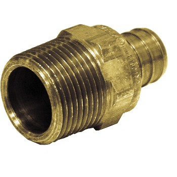 Threaded Adapter ~ 3/4 inch Pex x 3/4 inch MIP