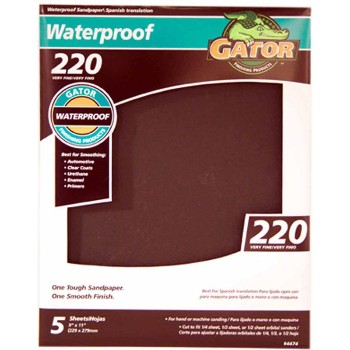 "Waterproof Sandpaper, 9"" x 11"" ~ 220 Grit"