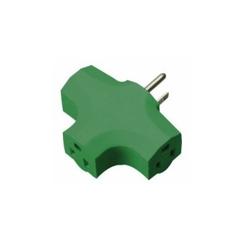 09905 Green 3-Outlet Adapter