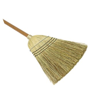 "Warehouse Natural Bristle Corn Broom ~ 42"" Handle"