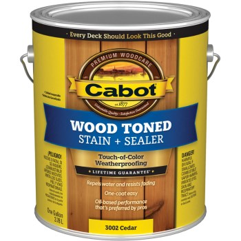 Wood Toned Deck & Siding Stain, Cedar ~ Gallon