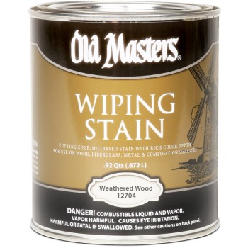 Wiping Stain,  Weathered Wood ~ Gallon