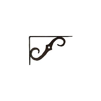 Ornamental Shelf Bracket, Antique Bronze 5 x 3-1/2""