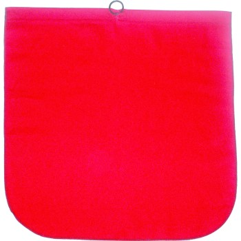 Cotton Safety Flag,  Red  ~ 18: x 18""