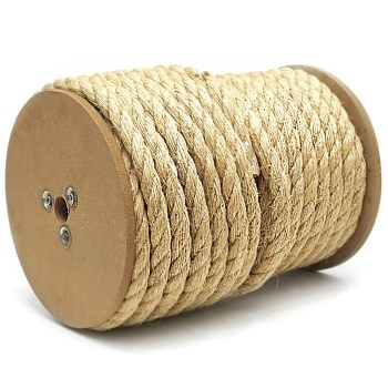 "3 Strand Twisted Sisal Rope, Natural Color ~ 3/8"" x 365 Ft."