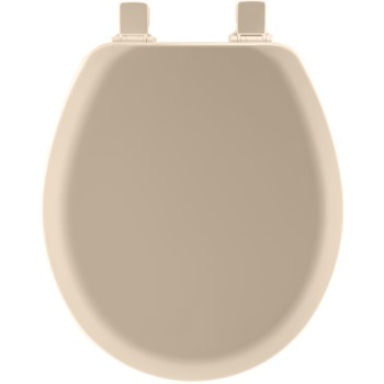Toilet Seat, Round Molded Wood ~ Beige