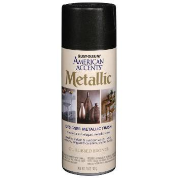 Rust-Oleum 243898 Metallic Spray Paint,  Oil Rubbed Bronze ~ 11 oz
