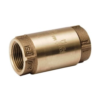 Anvil/Mueller 101-303NL Bronze In-Line 200 PSI Check Valve, Lead-Free Installation ~ 1/2""