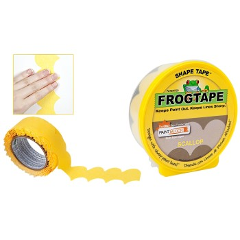 "FrogTape Shape Tape,  Scallop Design ~ 1.88"" x 25 Yrs"