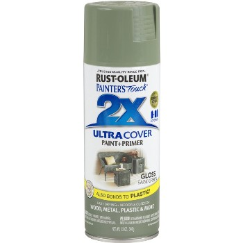 Rust-Oleum 249094 Painters Touch 2x Ultra Paint & Primer, Sage Green Gloss ~ 12 oz Aerosol