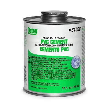 Oatey 31008 32oz Hd Clear Cement