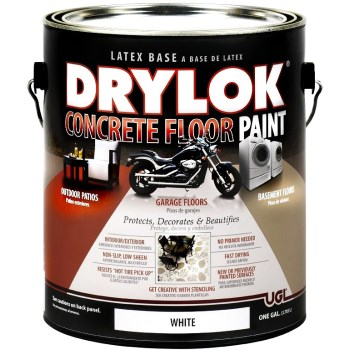 UGL 21213 Drylok  Concrete Floor Paint, Low Sheen White ~ Gallon