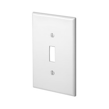 Wall Plate, Thermoplastic w/One Toggle ~ White