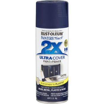 Rust-Oleum 249854 Ultra Cover 2X Spray ~ Midnight Blue Satin