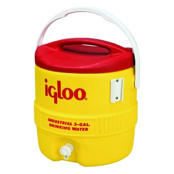Water Cooler, Yellow/Red 3 Gallon