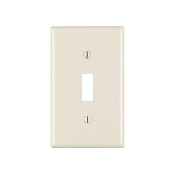 Single Toggle Switch Plate ~ Light Almond