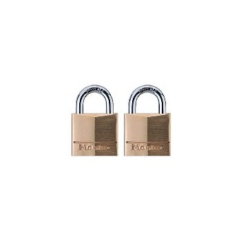 Twin Pack Brass Padlock