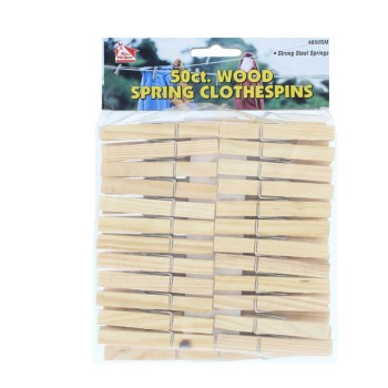 50ct Wood Clothespin