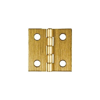 Solid Brass/Antique Brass Broad Hinge, Visual Pack 1802 1 x 1  inches
