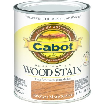 Wood Stain -Interior -  Brown Mahogany ~ Quart