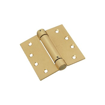 National 184572 Door Closing Spring Hinge,  Brass ~ 4 x 4""