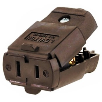 Polarized Light Duty Clamptite Connector, Brown ~ 15 Amp