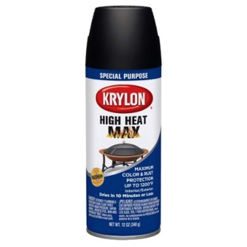 High Heat Max Spray Finish, Black ~ 12 oz