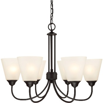 Galveston Chandelier, 6 Light ~ Black