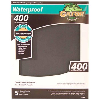 "Waterproof Sandpaper, 9"" x 11"" ~ 400 Grit"