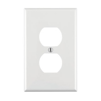 Decora 1 Gang Duplex Receptacle Plate, White