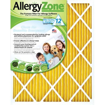 "AllergyZone AZ16201 Allergy Zone Air Filter ~ 16"" x 20"" x 1""  AZ16201"