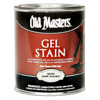 Gel Stain,  Dark Walnut ~ Quart