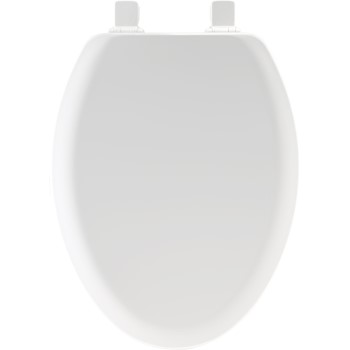 Toilet Seat, Elongated, Molded Wood ~ White