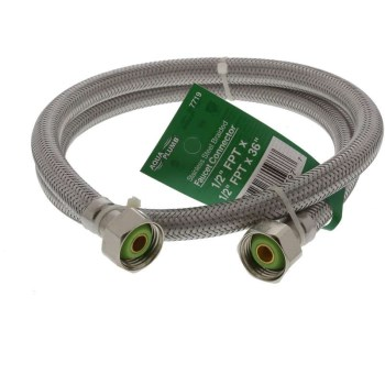 36in. Ss Faucet Connector