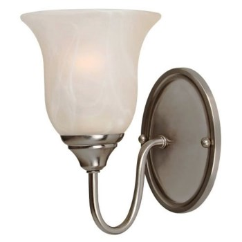 "Saturn Design Series Wall Light Fixture,  Satin Nickel  ~ 5-1/2"" W x  8-1/4"" L"