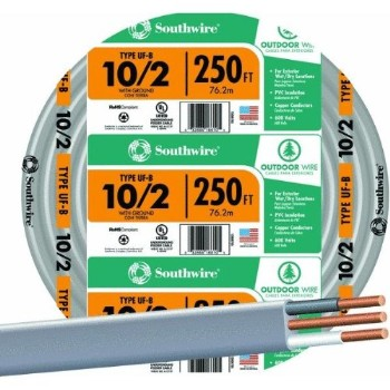 Underground Feeder Cable ~ 10/2 Gauge, 250 ft