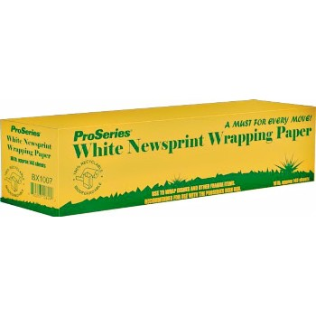 Wrapping Paper - White Newsprint