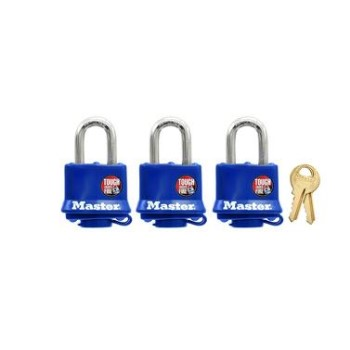 MasterLock 312TRI Covered Padlock, 3 Pk