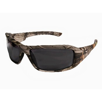 Safety Eyeware, Brazeau Series ~ Camo w/Smoke Lenses