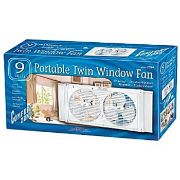 Twin Window Fan, 9 inch