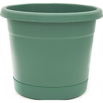 Planter, Rolled Rim/Fern Green  ~ 12""