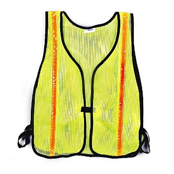 CH Hanson 55115 Safety Vest, Fluorescent Lime Green