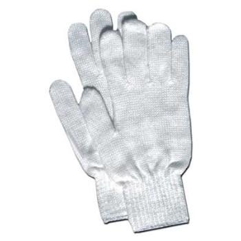 Glove Liners - Ladies White Knit