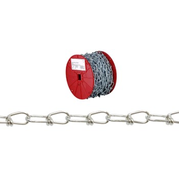 Campbell Chain 072-3227 Double Loop (Inco) Chain,  Zinc Plated ~ #3 x 200 Ft