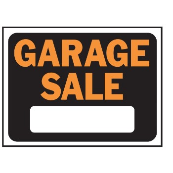 Garage Sale Sign, Plastic 9 x 12 inch